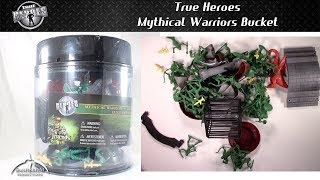 True Heroes Mythical Warriors Miniatures Bucket Unboxing and Review