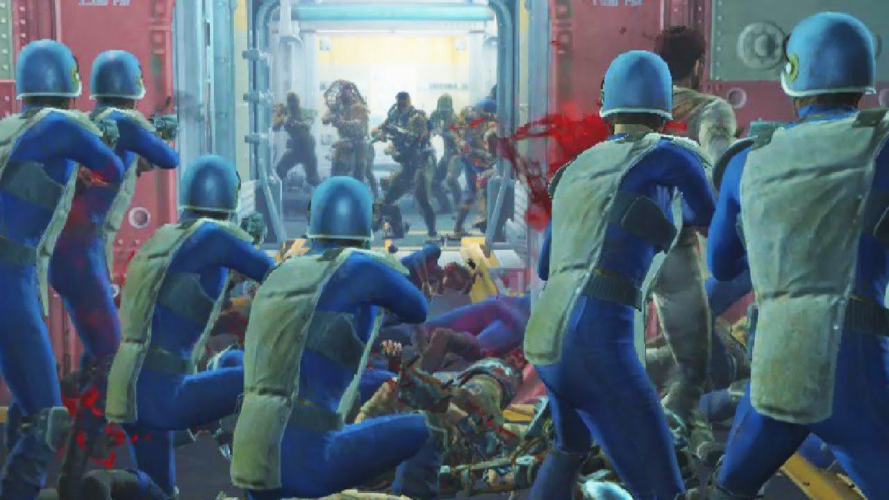Raiders Attack Vault 81 Fallout 4 NPC War YouTube