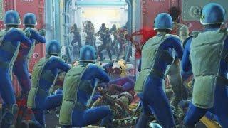 Raiders attack Vault 81 - Fallout 4 NPC War