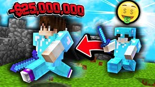 KILLED FOR $25,000,000 BOUNTY!! (Minecraft Skyblock)