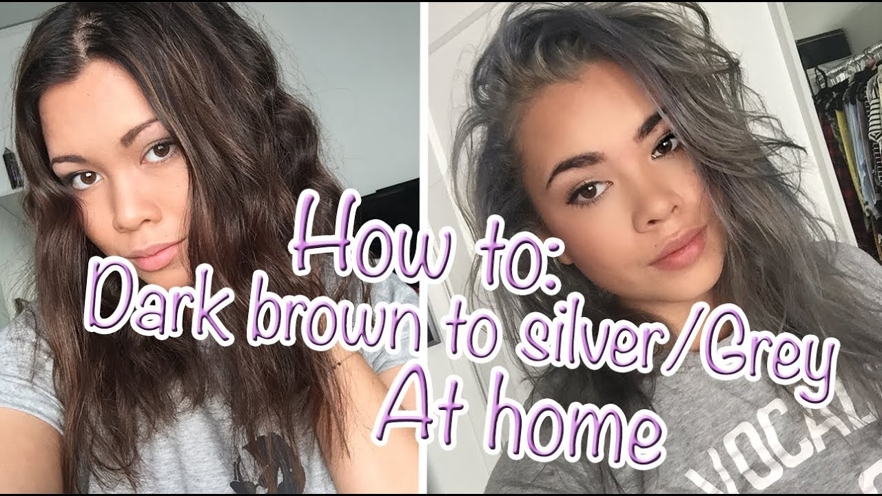 HOW TO: Go from Dark brown to Silver/Grey hair at home ...