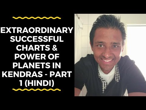 EXTRAORDINARY SUCCESSFUL CHARTS & POWER OF PLANETS IN KENDRAS - PART 1