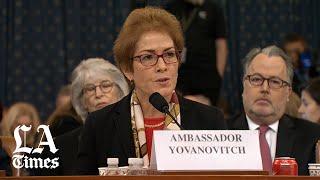 Ambassador Marie Yovanovitch opening statement in Trump impeachment inquiry