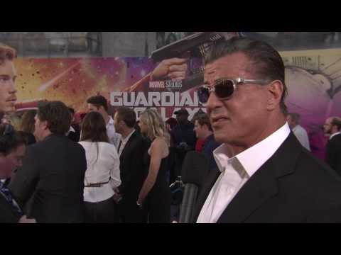 Guardians of the Galaxy Vol. 2: Sylvester Stallone Red Carpet Movie Premiere Interview
