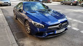 [4k] Gorgeous Mercedes SL65 AMG V12 BiTurbo 630 HP facelift in Stockholm, Sweden