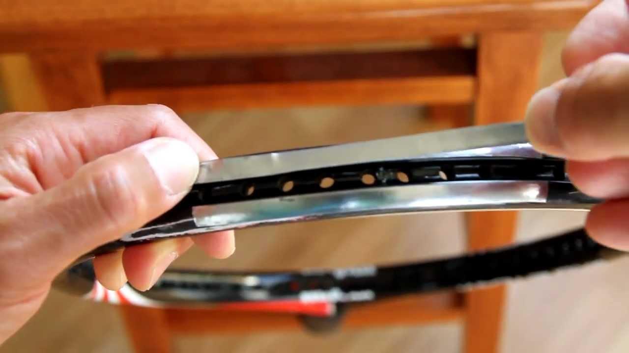 Tennis Bumper Guard : How to replace a bumper guard and add lead tape