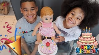 Birthday Party for Baby Alive Doll Pretend Play! FamousTubeKIDS