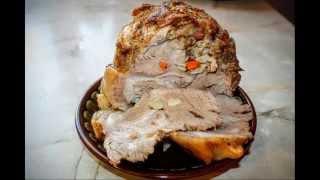 Как приготовить  ДОМАШНЮЮ БУЖЕНИНУ сочную ароматную баранина свинина говядина морковка чеснок Специи