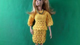 Урок вязания кофты-реглан для Барби. Мастер-класс.
