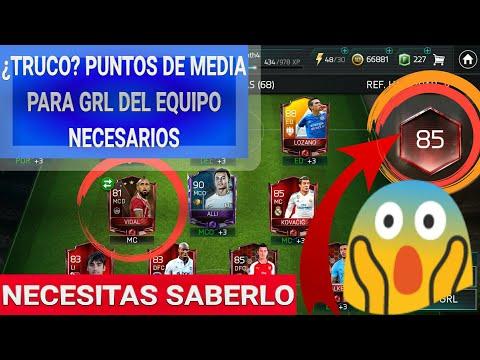"""¿TRUCO? PARA SABER PUNTOS DE GRL NECESITAS PARA EL SIGUIENTE GRL """"EXACTAMENTE""""  [FIFA MOBILE] 😋"""