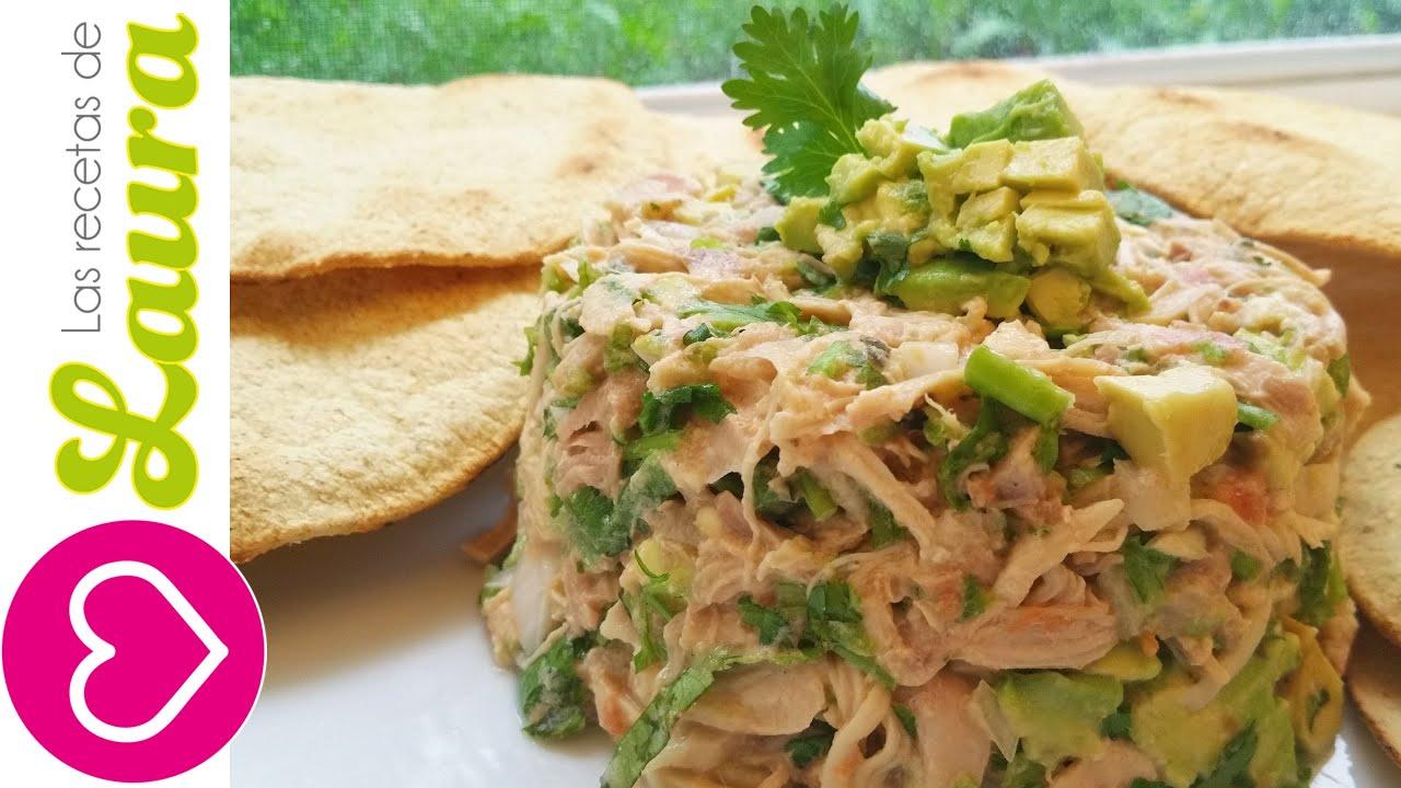 Ensalada de pollo al cilantro comida saludable youtube - Ensaladas gourmet faciles ...