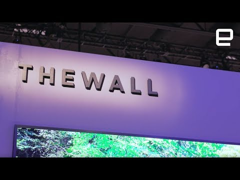 The Wall: Samsung's MicroLED TV at CES 2018