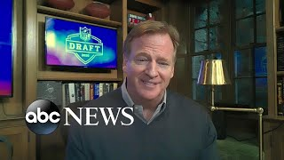 NFL commissioner's behind-the-scenes tour of 1st virtual NFL draft