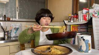 自炊は大変だけどパスタ食っときゃあどうにかなる。【明太高菜パスタ】