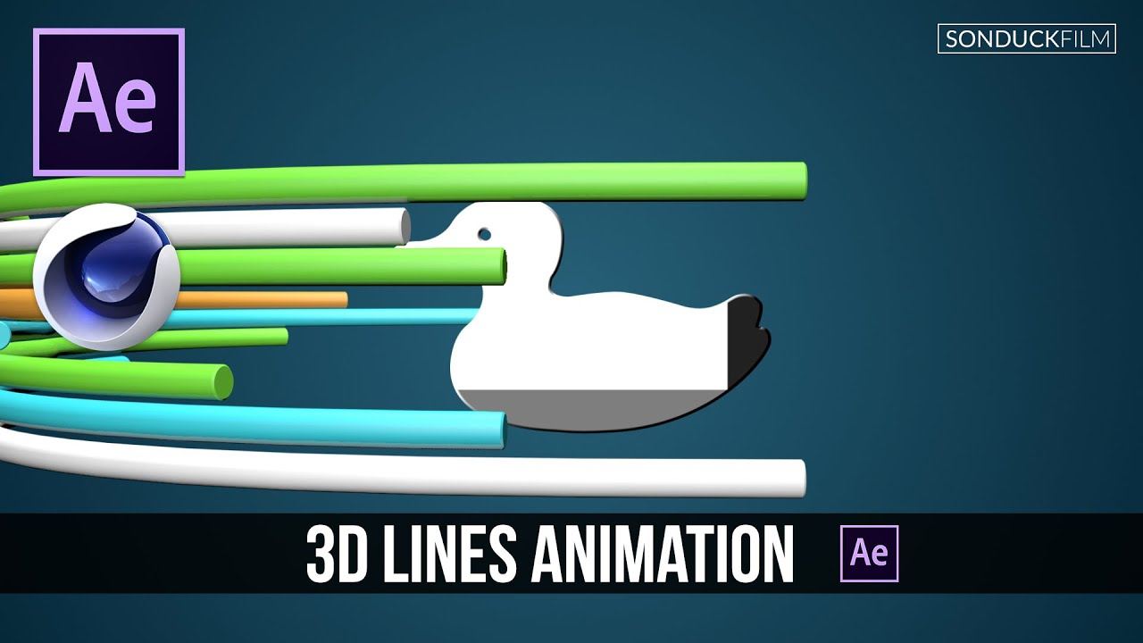 After Effects Tutorial: 3D Lines Depth Compositing with Cinema 4D