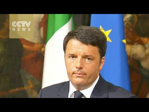 Italian PM speaking on Mediterranean boat capsize