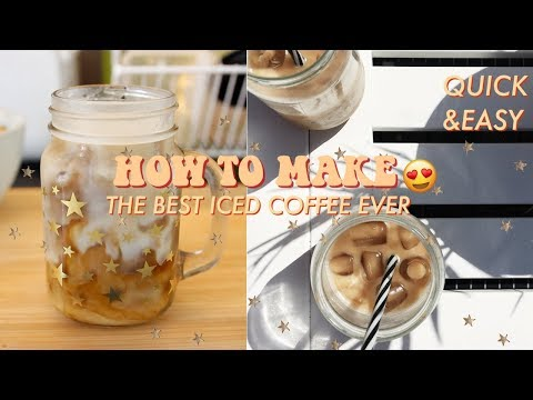 HOW TO MAKE THE BEST ICED COFFEE EVER! QUICK, EASY & VEGAN RECIPE♡