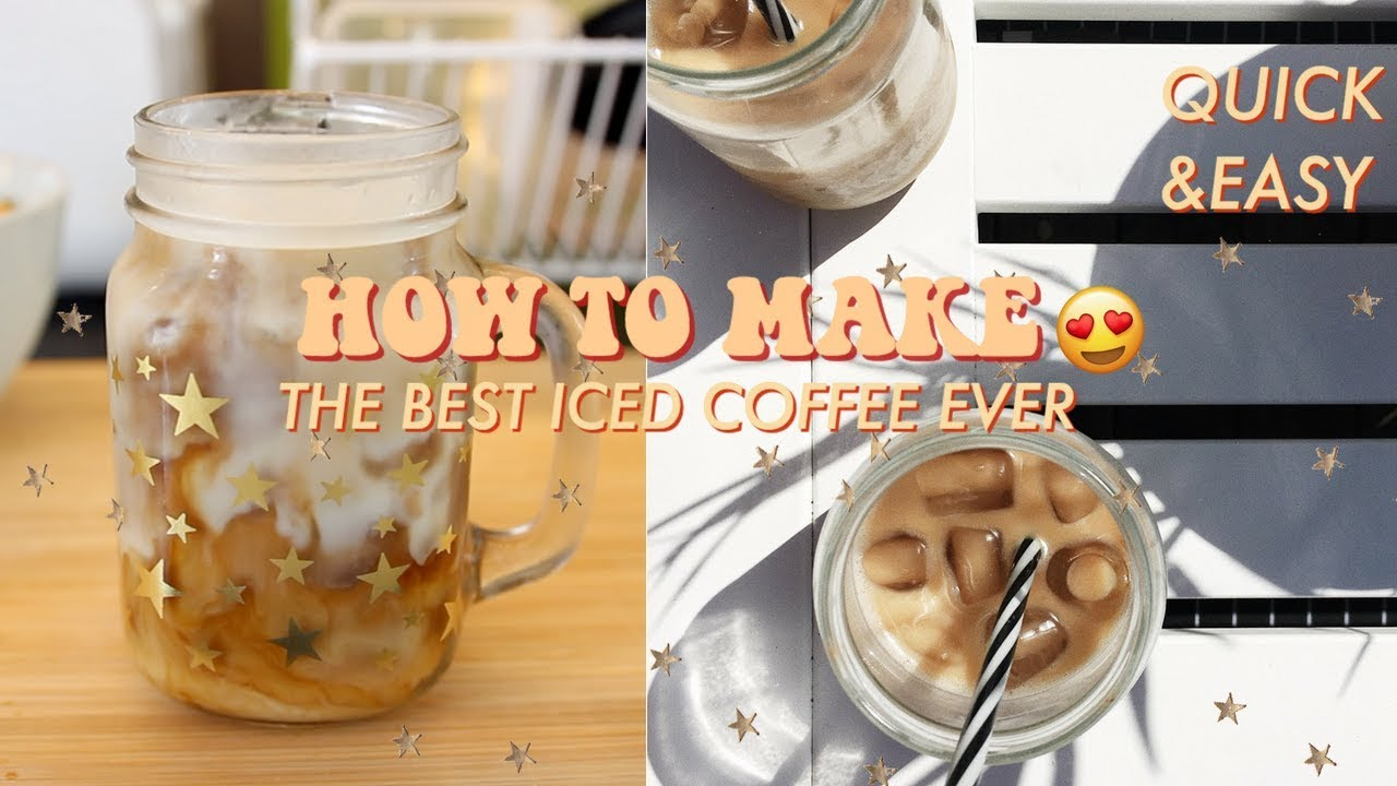 Download HOW TO MAKE THE BEST ICED COFFEE EVER! QUICK, EASY & VEGAN RECIPE♡