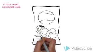 How to Draw a potato chips bag / Как нарисовать пачку чипсов
