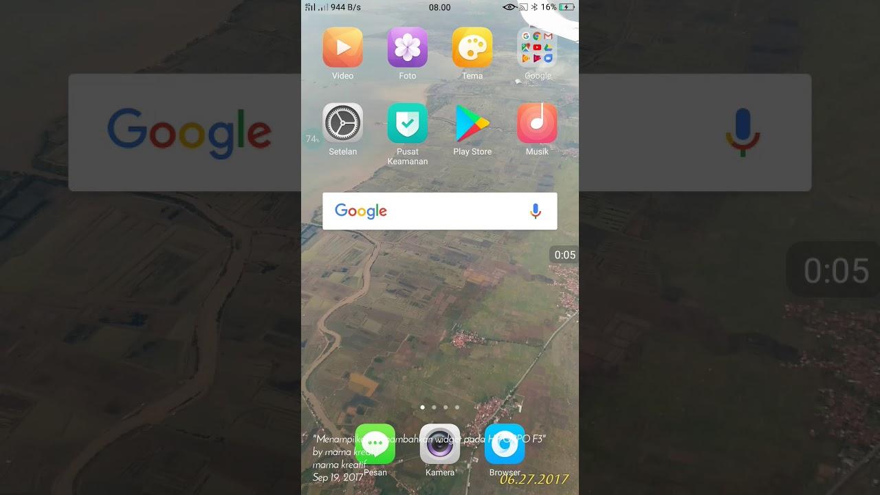 Tips Menampilkan Widget Atau Menambahkan Widget Di Hp Android Oppo