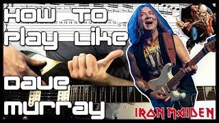 how to play like dave murray (iron maiden) analysis & tutorial