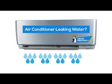 how to stop aircon leaking water