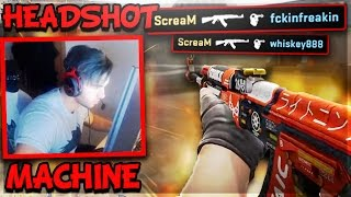 SCREAM ONE TAP HEADSHOTS EVEN WHEN BLIND! • CS:GO PRO FUNNY MOMENTS (PRO Plays,Clutches,Aces)