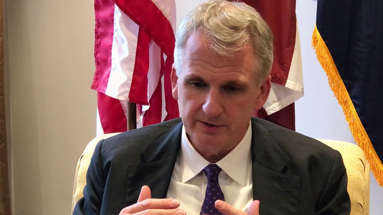 World-known Author & historian Timothy Snyder in Riga (short clip)