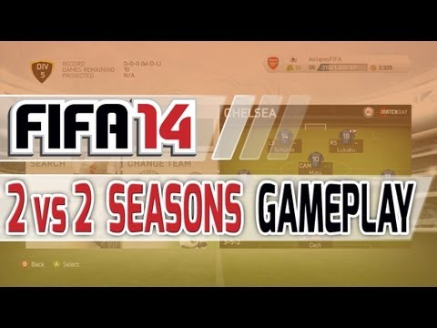 FIFA 14 2v2 Season's First Look - Chelsea vs Manchester United Gameplay