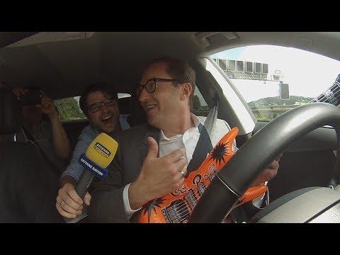 Selbstfahrendes Auto: Die Testfahrt mit Alexander Dobrindt und ANTENNE BAYERN