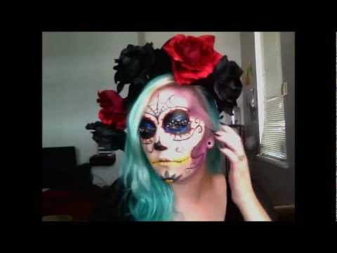 sugar skull hair styles sugar skull hair and crown diy 2874