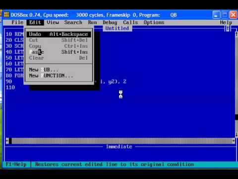 QBasic Tutorial 53 - Gorillas Nibbles OpenGL Games Other Program