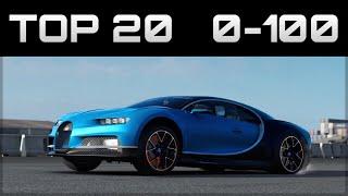 Скачать TOP 20 FASTEST 0 100 CARS Forza Motorsport 7 Crazy Accelerations