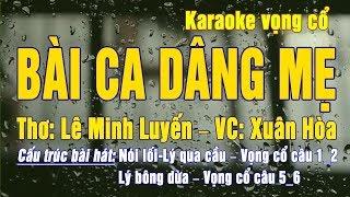 Karaoke Bài ca dâng mẹ (dây kép)
