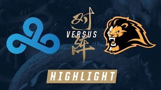 c9 vs lyn worlds play in knockout stage match highlights 2017