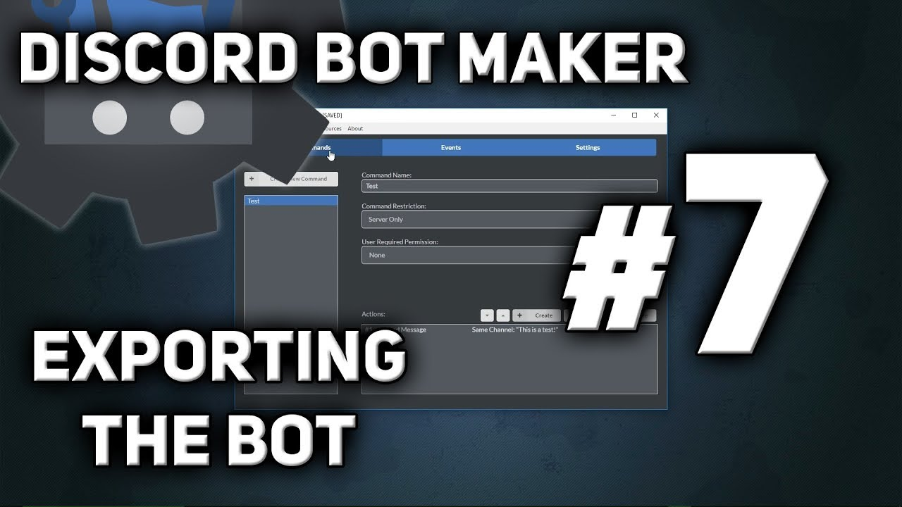 Discord Bot Maker Tutorial #7 - How to Export the Bot