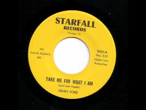 Vintage Soul - Henry Ford - Take Me For What I Am