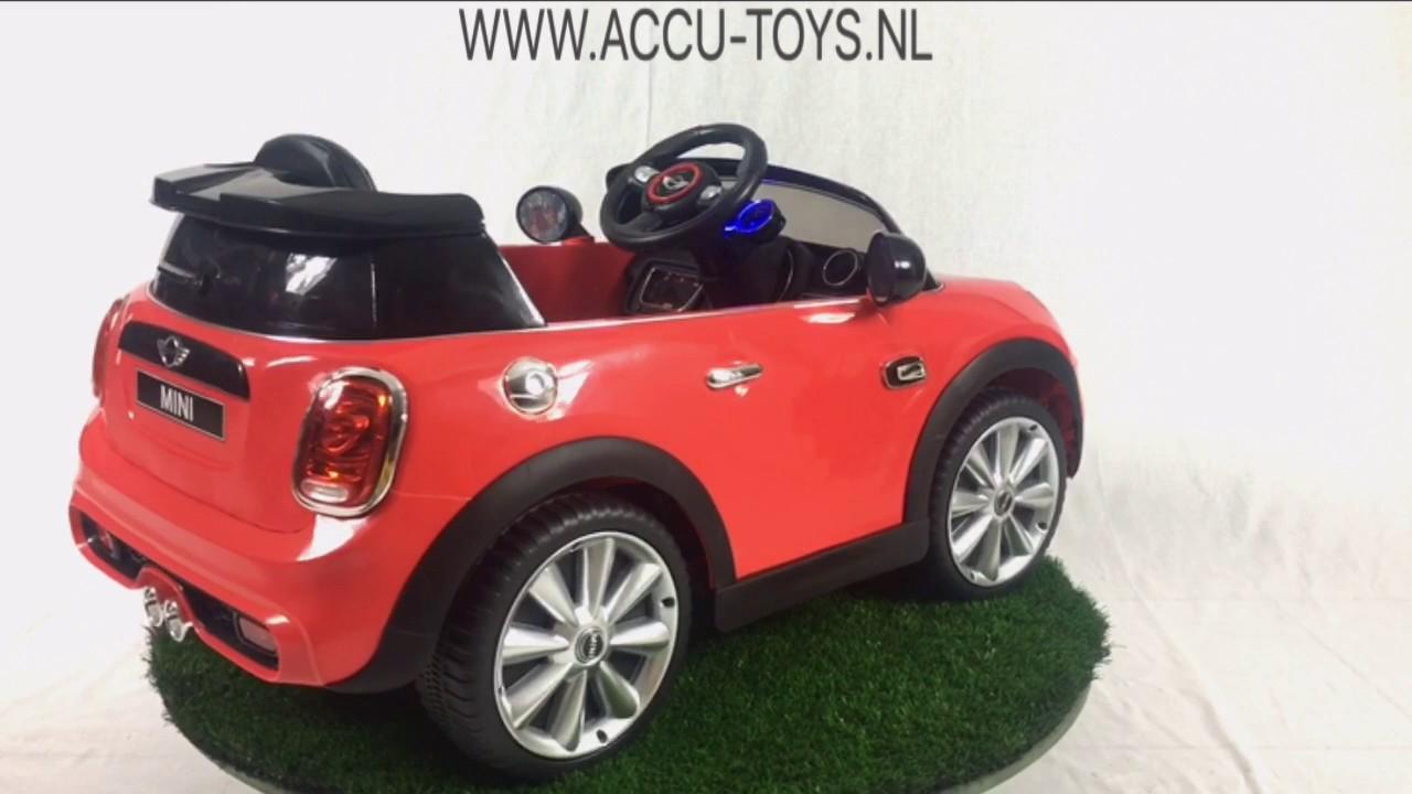 elektrische kinderauto mini cooper 12 volt met. Black Bedroom Furniture Sets. Home Design Ideas