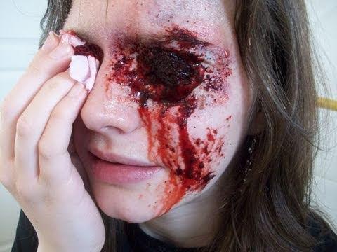 maquillage halloween comment faire un oeil creve