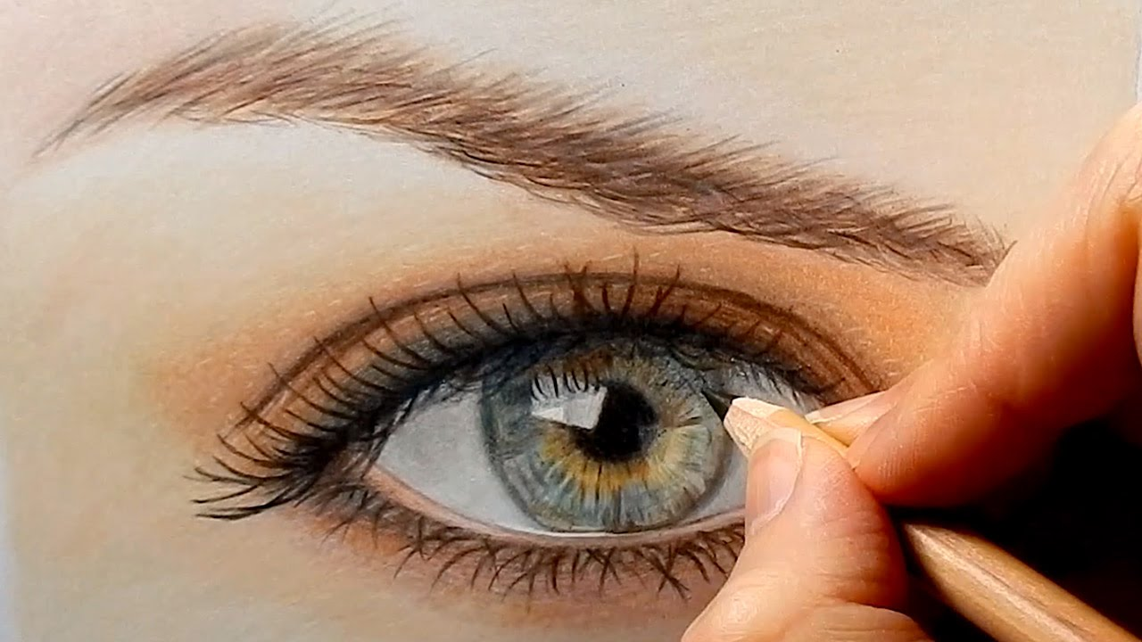 how to draw colored eyes