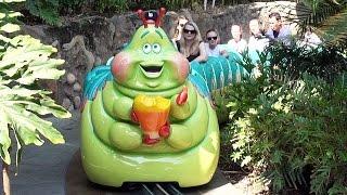 Heimlich's Chew Chew Train Full Ride POV at Disney California Adventure, Disneyland, Pixar Bugs Life