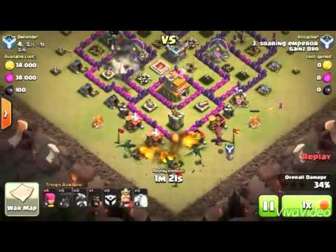 Clash of clans th7 vs th7 best attack strategy youtube