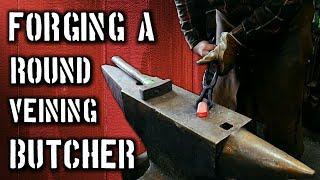 Forging a Round Veining Butcher Tool for Blacksmiths