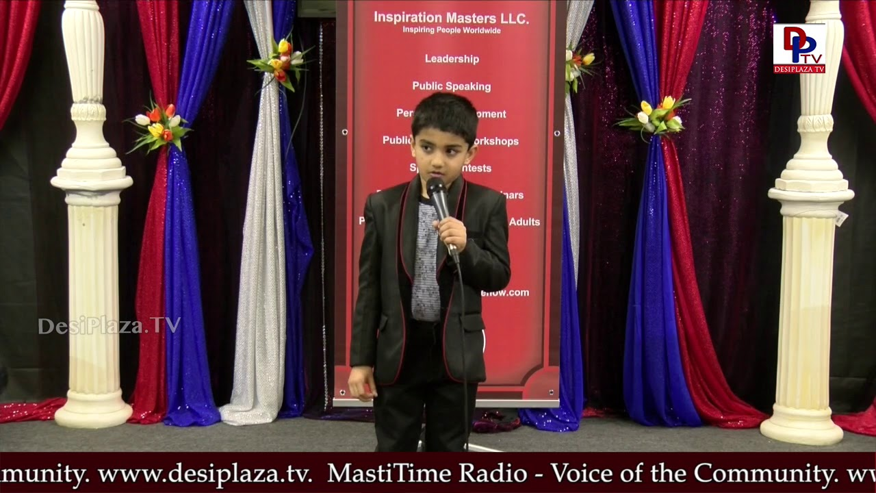 "Akash talks about ""Saving natural resources"" at Talking Bee - Public Speaking Competitions 2018"