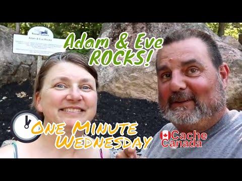 Geocaching - One Minute Wednesday - Adam & Eve Rocks