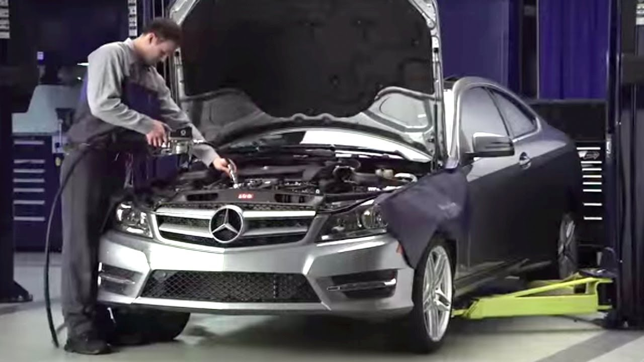 Mercedes benz service a car service youtube for Schedule c service mercedes benz