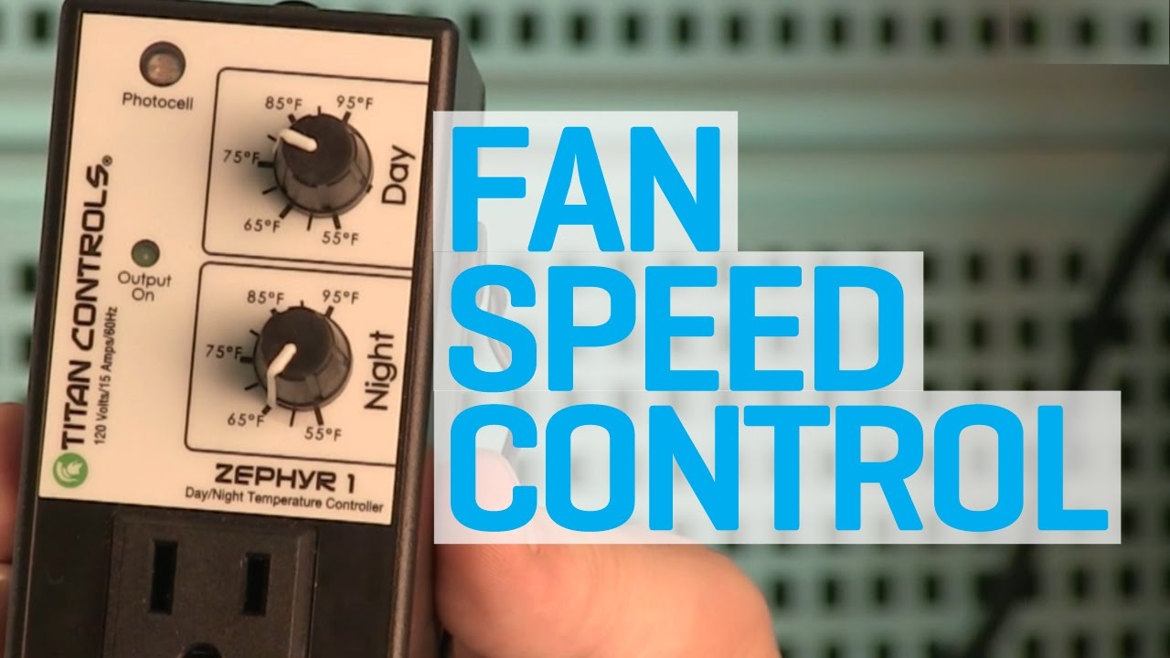 How to control fan speed and heating in your grow room & How to control fan speed and heating in your grow room - YouTube