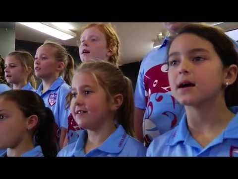 Umina Public School sing:   I am, you are, we are Australian