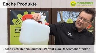 Esche Profi Benzinkanister - Perfekt zum Rasenmäher tanken
