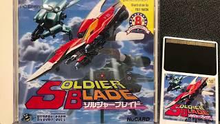 Soldier Blade PC ENGINE Gameplay - On Core Grafx II - RGB - Sony PVM